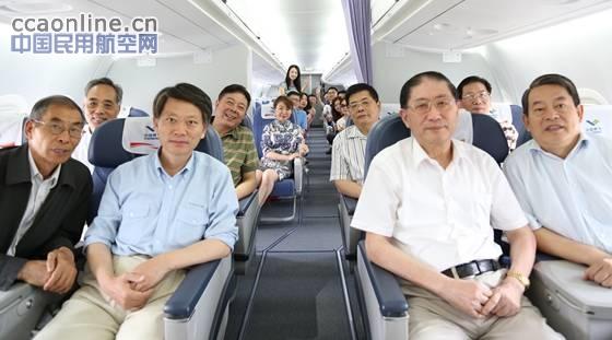 中国商飞ARJ21飞机在浙江舟山开展航线演示飞行