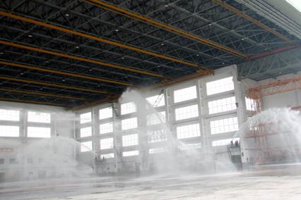 国航成都维修基地成功进行飞机机库消防演习