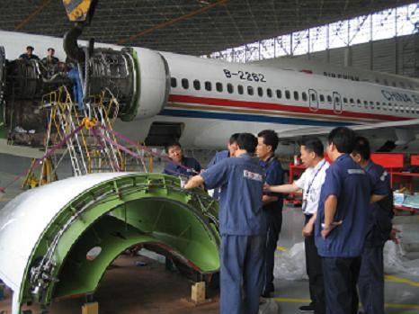 东航安徽分公司飞机维修部定检部北京换发侧记