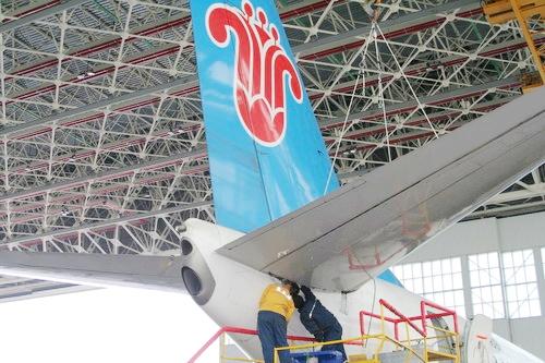 南航新疆飞机维修基地完成b-2859飞机c检工作