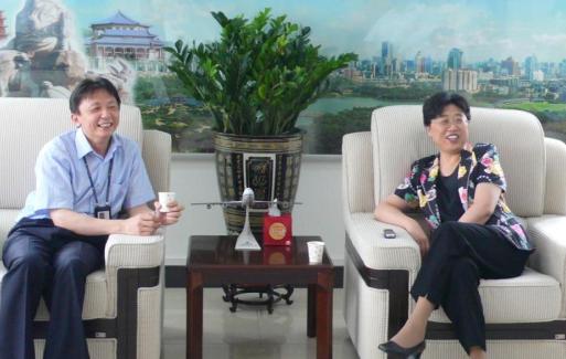 国航副总裁张兰一行到华南基地视察工作