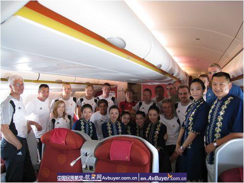 比利时奥运代表团乘坐海南航空公司航班抵京