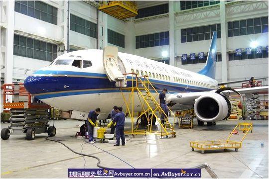 奥运期间新疆飞机维修基地完成首次航后定检