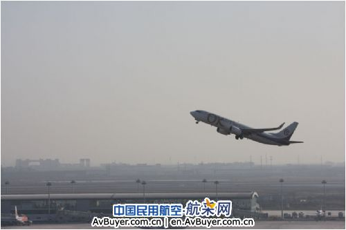 oka2821(天津—哈尔滨)航班由天津滨海国际机场安全
