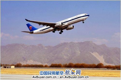 南航宽体客机空客330在拉萨完成RNP验证飞行