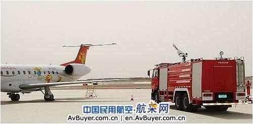 库尔勒机场大新华飞机发动机起火 无人员伤亡