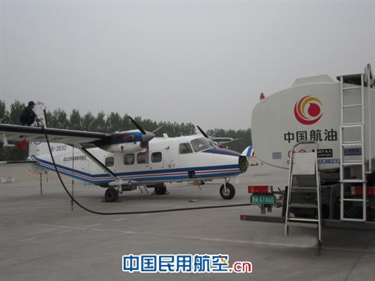 中国航油唐山供应站保障救灾人工增雨飞机供油