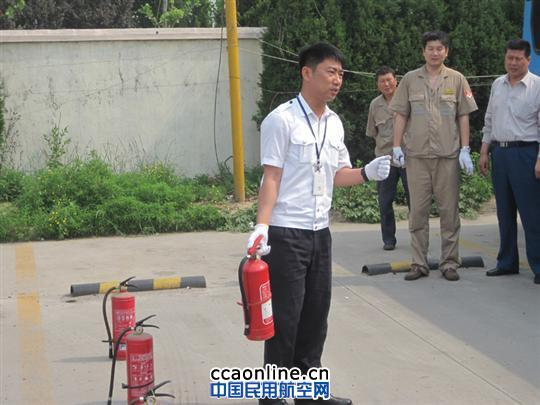 青岛机场汽运公司组织车辆消防应急演练