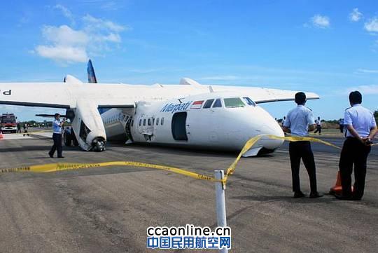 印尼鸽航ma60飞机迫降 46名乘客均被安全疏散