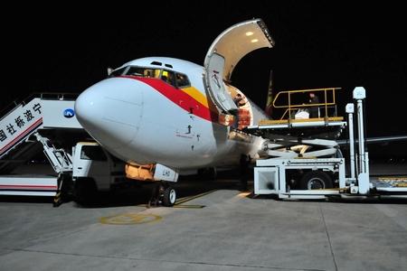 宁波-香港全货机飞抵宁波机场